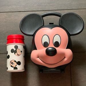 Vintage 1989 Mickey Mouse Head Lunchbox